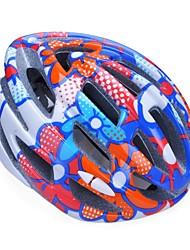 moda unisex y de alta transpirabilidad pc + epp casco de bicicleta (24vents) - azul oscuro + rojo + plata
