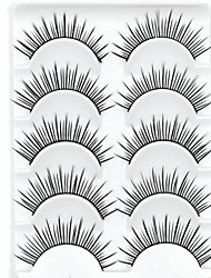 New 5 Pairs American Sytle Natural Black Long Thick False Eyelashes Eyelash Eye Lashes for Eye Extensions