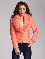 kate seulement manteau de coton de la fourrure des femmes
