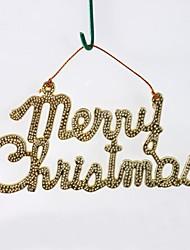 Golden Merry Christmas Hanging Board(6pcs)