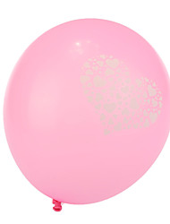 Extra Large Size Pink Thick Heart Broken Round Balloons--Set of 24