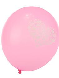tamanho extra grande rosa coração grosso balões redondos quebrados - conjunto de 24