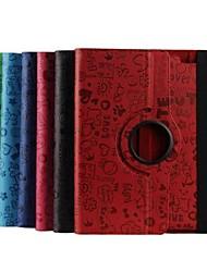 9,7 pouces rotation de 360 degrés féerie de cas de motif avec support pour iPad 2/3/4 (couleurs assorties)