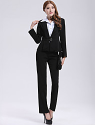 Incern®Women's Black Two-piece OL-style Work Suit(Blazer & Pants)