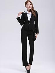 Incern®Women's Black Two-piece OL-style Work Suit(Blazer & Pants)