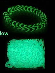 600pcs telar telar banda de moda luminosa (clip 1package s)