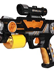 con il fumetto di proiezione giocattolo elettrico pistola (colori casuali)
