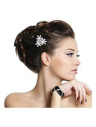 Silver Plated 3 Flower Rhinestone Crystal Wedding Hair Comb Pin Tiara Fashion