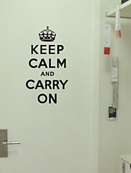 Wall Stickers Wall Decals, Keep Calm and Carry on PVC Wall Stickers