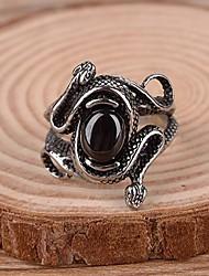 мужская Европа старинные Darkstone змея титана стальное кольцо