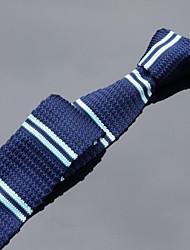 clásicos flacos lazos azules de punto de los hombres xinclubna®