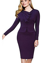 Women's Cotton Blend Bodycon Long Sleeve VICONE