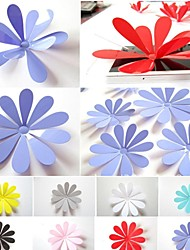 3D Acrylic Flower  Wall Stickers Set of 12
