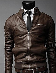 Black Man All Match Jacket Solid Color Coat