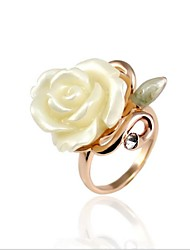 Viennois Fashion Viscose Rose With Rhinestone Ring