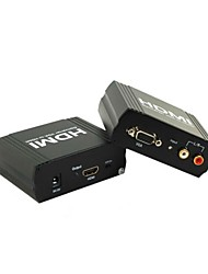 Converter VGA to 1080p HDMI Output Box Adapter Dolby-TrueHD7.1 DTS Dolby-AC3 DSD Audio Converter Audio to HDMI