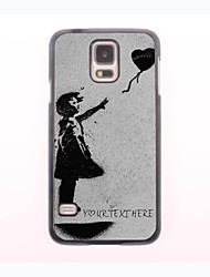 Personalized Phone Case - Flying Heart Design Metal Case for Samsung Galaxy S5 mini