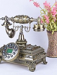 Box Design Europe Style Polyresin Material Home Decor Telephone with ID Display, Antique Bronze