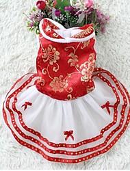 nouvelle mode coton chaud habit de fête de phoenix jupe de costume pour les chiens et animaux domestiques (taille assorties)