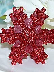 Свеча рождества снежинки, парафин случайный цвет