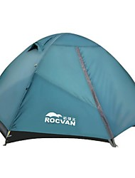 ROCVAN 3 Season A092B 2 Person Single Layer Tear Resistant Aluminum Pole Camping Tent