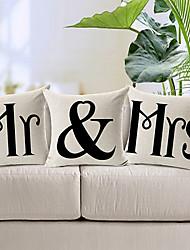 набор из 3 мр&г-жа хлопок / лен декоративные подушки крышки