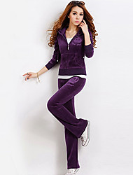 Women's Hoodie Casual Fashion Solid Color Suits(Hoodies&Pants)