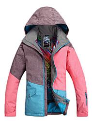 Women's Ski Ski/Snowboard Jackets Waterproof / Breathable / Wearable / Windproof / Thermal / Warm Pink / Blue / OthersSkiing / Skating /