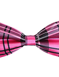 preto&fúcsia verificado gravata borboleta