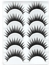 New 5 Pairs European Stlye Black Long Thick False Eyelashes Eyelash Eye Lashes for Party Eye Extensions