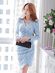 mode élégante robe jacquard mince de dabuwawa femmes