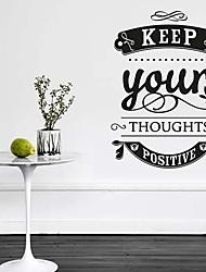 jiubai® держать положительное вдохновение цитата наклейки настенную наклейку, 57см * 78см