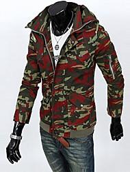 Men's Long Sleeve Jacket , Cotton Blend/Polyester Casual/Sport Print