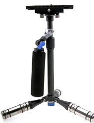 DSL-05 Carbon Fiber Retractable Mini Handheld Camera Stabilizer for DSLR Camera - Black