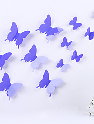 DIY 3D PVC Wall Sticker Butterfly Stickers Magic Stickers 12 Pieces/Set