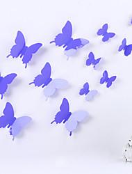DIY 3D PVC-Wandaufkleber Schmetterling Aufkleber Magie Sticker 12 Stück / Set