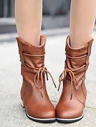lacey moda tacco basso tutto fiammifero stivali