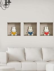 3d кролика стены стикеры стены наклейки