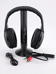 Multi-function Headphone Hi-Fi Headset Wireless Earphone Headphone for FM Radio MP3 PC TV