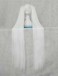 VOCALOID  Miku Pure White Straight Cosplay Wig
