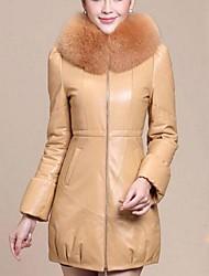 женская перо мягкий кожаный шуба