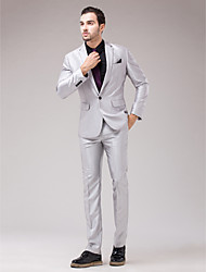 Silver Serge Slim Fit Two-Piece Suit