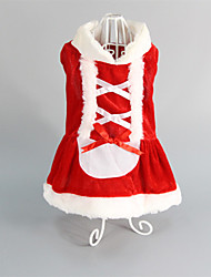 Cat / Dog Dress / Clothes/Clothing Red Winter Christmas Wedding / Christmas