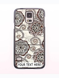 Personalized Phone Case - Retro Flower Design Metal Case for Samsung Galaxy S5 mini