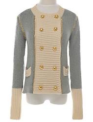 женская учетом двубортный свитер пальто