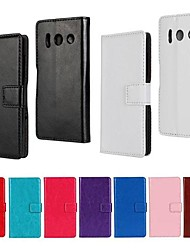 Solid Color PU Leather Full Body Case with Stand and Card Slot for Huawei Y300 (Assorted Color)