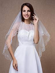 Свадебные вуали Один слой Фата до локтя 39,37 В (100 см) Тюль