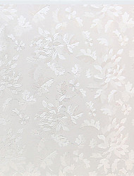anmutigen Land weiße Blätter Fensterfolie - 0,5 x 5 m (1,64 × 16,4 ft)