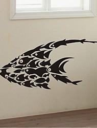 parete decalcomanie autoadesivi della parete, decorazione della casa murales pesci degli autoadesivi della parete del PVC