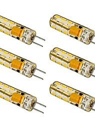 1.5W G4 Lâmpadas Espiga T 24 SMD 3014 100-120 lm Branco Quente / Branco Frio AC 12 V 6 pçs